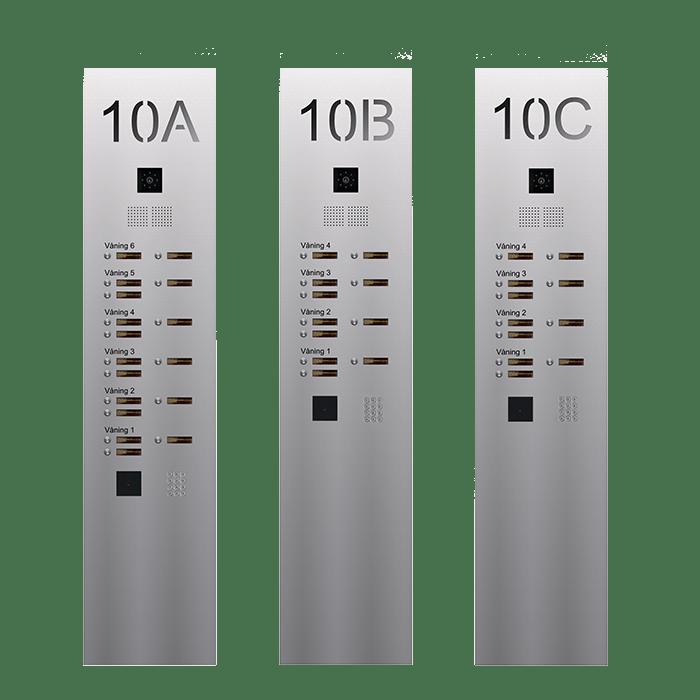 Serie 610 digital vinduesfyldning SE - Infälld porttelefon